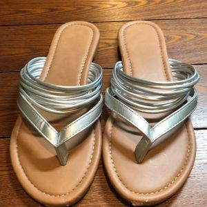 Silver Sandals size 8